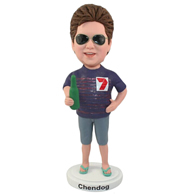 Custom the glasses woman  bobble heads
