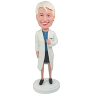 Custom the woman doctor  bobbleheads doll