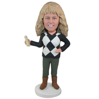 Custom  the blond woman bobbleheads doll