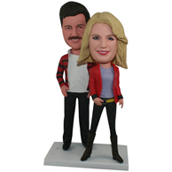 The pair of husband and wife custom bobbleheads