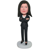 The suit woman custom bobbleheads