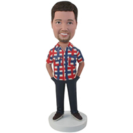 Custom the blouse man  bobbleheads
