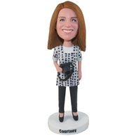 The white woman custom bobbleheads