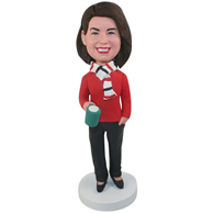 Custom  the red womanbobbleheads
