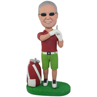 Custom the golf man bobbleheads