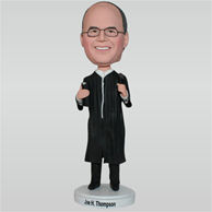 Priest in black long gown holding the bible custom bobbleheads