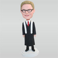 Young boy in black academic dress custom bobbleheads