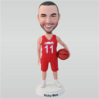 NO.11 basketball player in red ball uniform custom bobbleheads