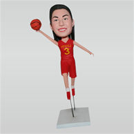 Custom NO.3 basketball player  bobbleheads in red ball suit