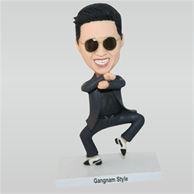 funny sunglasses man in black suit custom bobbleheads