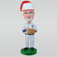 Chiristmas baseball player in ball suit custom bobbleheads