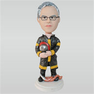 Firefighter in uniform custom bobbleheads