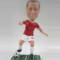 Football player bobbledoll