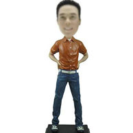 Blue Jeans Bobble head doll 12 Inch