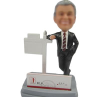 Business card bobbleheads