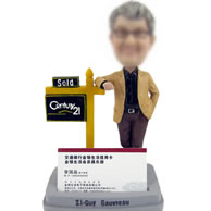 Custom  bobbleheads  with business card