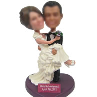 Custom bobble head doll of Wedding