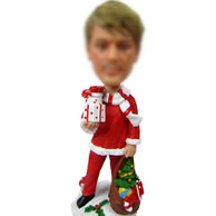 Custom Father Christmas bobbleheads