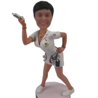 Custom Nurse bobble head doll