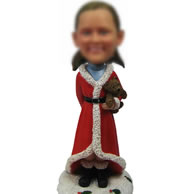 Custom Christmas bobble head