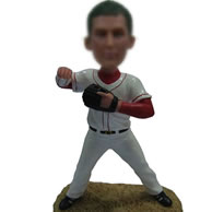 Customized baseball player bobblehead