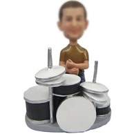 Drums drummer bobble doll