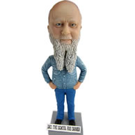 Personalized blue pants bobbleheads