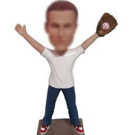 Personalized  baseball player bobblehead