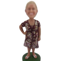 Personalized bobblehead doll of Casual woman