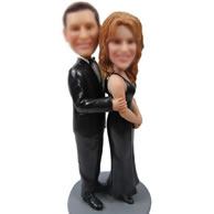 Personalized Custom bobbleheads of black dress