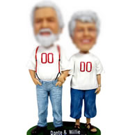Personalized Custom bobbleheads of couple