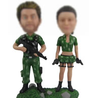 Personalized Custom bobbleheads of  game couple