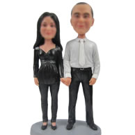 Personalized Custom bobbleheads of good couple