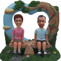 Personalized Custom bobbleheads of Happy life