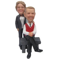 Personalized Custom bobbleheads of happy