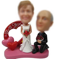 Personalized Custom bobbleheads of love story