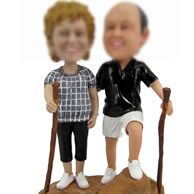 personalized Custom bobbleheads of mountain climbing