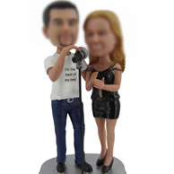 Personalized Custom bobbleheads of singing couple