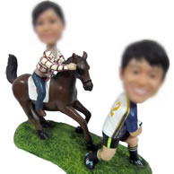 Personalized Custom bobbleheads of sports couple