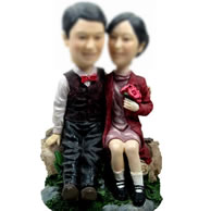 Personalized Custom bobbleheads of Sweet couple