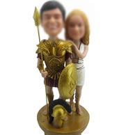 Personalized Custom bobbleheads of Warrior