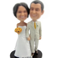 personalized Custom bobbleheads of Wedding