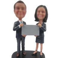 Personalized Custom bobbleheads with black clothes