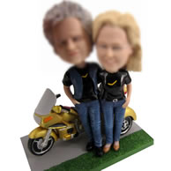 Personalized Custom bobbleheads with Motorcycle