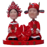 Personalized Custom Chinese-style wedding bobblehead