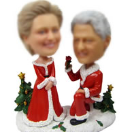 Personalized Custom Christmas Wedding bobble head