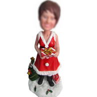 Personalized Custom  Christmas bobble head