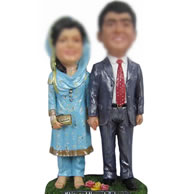 Personalized Custom Wedding bobbleheads of Indian bride