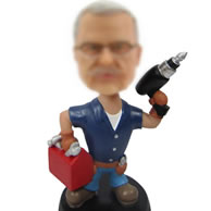 Personalized Repairman bobbleheads