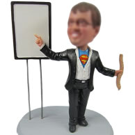 Personalized super man bobbleheads